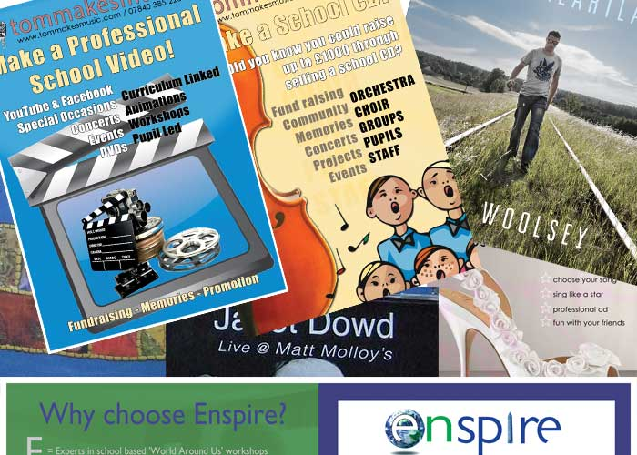 Graphic design for leaflets, flyers, cd covers - all your promotional needs!